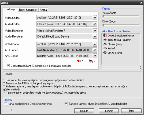 DVBDream H264 Ayarları
